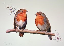 Two's Company II by Sarah Stokes -  sized 24x17 inches. Available from Whitewall Galleries